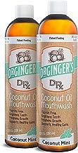 Doctor Ginger's Enjuague bucal de jalea y blanqueamiento con aceite de coco de Dr. jengibre, menta de coco, 12 oz, paquete de 2