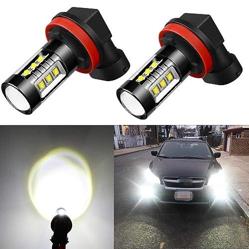 Alla Lighting Extreme Super Bright H11 LED Bulb Fog Light High Power 80W Cree 12V LED