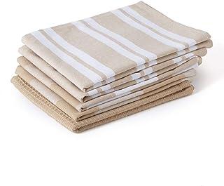 Encasa Homes antybakteryjne kuchenne ręczniki do naczyń X duże 70 x 45 cm (zestaw 5 szt. gofr, paski, kratka) ekologiczna ...