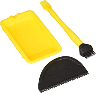 3 PIECE SILICONE GLUE SET SPREADER BRUSH AND TRAY WOODWORKING CARPENTRY