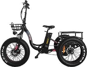 Addmotor MOTAN Electric Trike 20Inch Fat Tire Bike 750W Motor 14.5Ah Lithium Battery Step-Thru M-330 P7 Three Wheel, Low Step-Through Aluminum Frame Rear Basket Cargo Cruise Ebikes for Adults