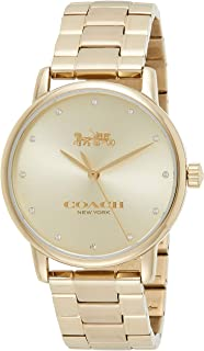 Coach Women's Gold Dial Ionic Thin Gold Plated 1 Steel Watch - 14502927