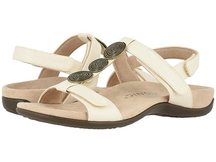 Vintage Sandals | Wedges, Espadrilles – 30s, 40s, 50s, 60s, 70s VIONIC Farra II Woven Cream Womens Shoes $80.99 AT vintagedancer.com