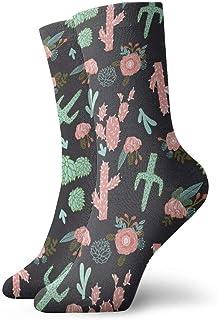 Elsaone, Niños Niñas Locos Divertidos Calcetines del sudoeste de flores de cactus Calcetines lindos del vestido de la novedad