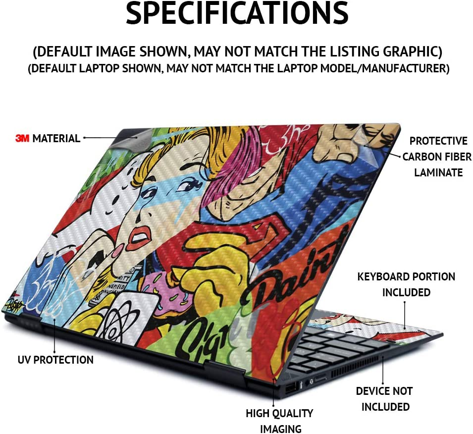 MightySkins Carbon Fiber Skin for Lenovo Flex 14
