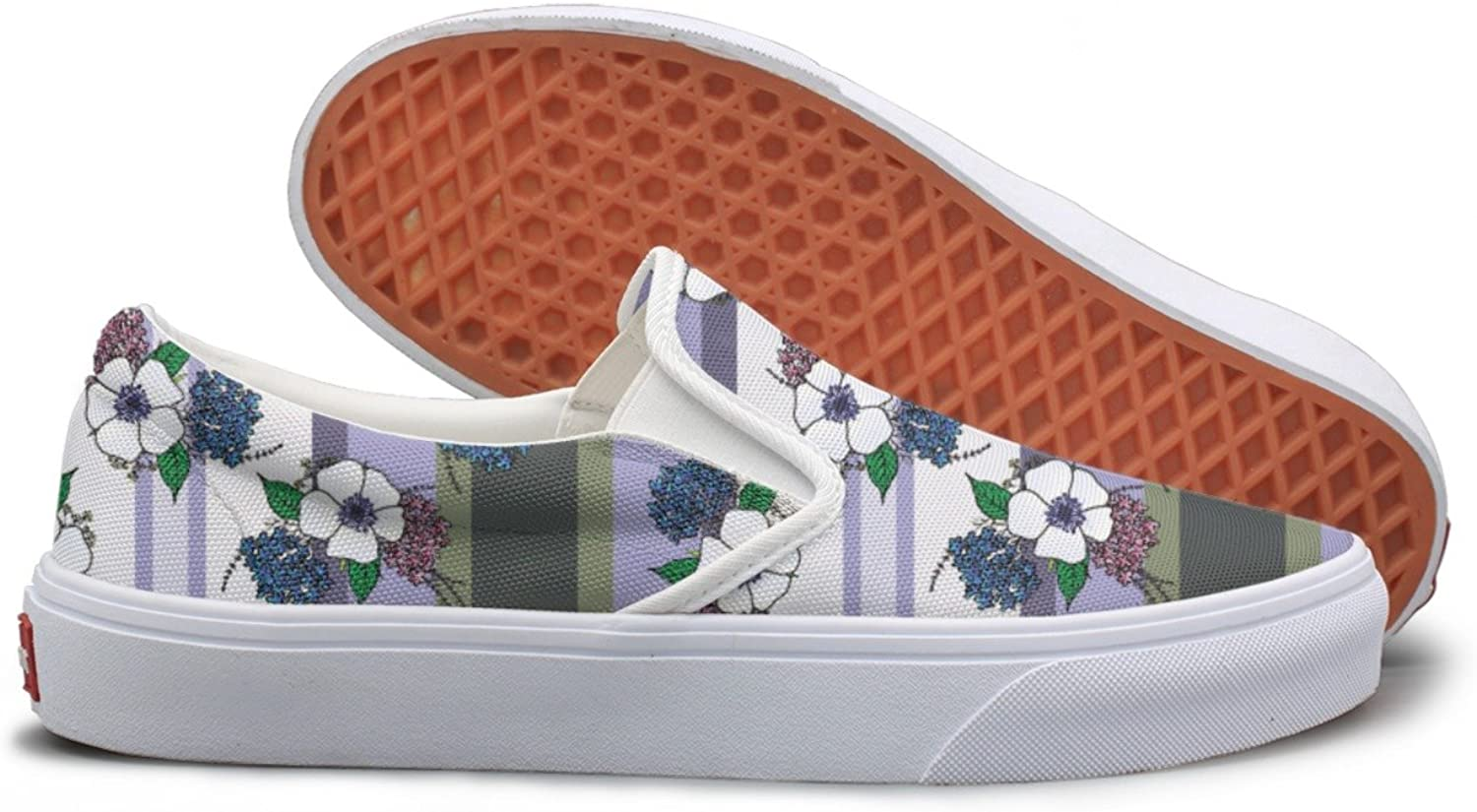 SEERTED Spring Provence Flowers Casual Sneakers for Women Wide Width
