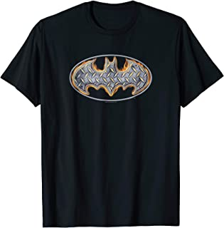 Batman Steel Fire Shield T Shirt
