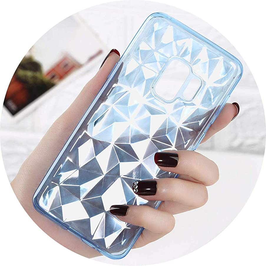 Phone Case for Samsung Galaxy S8 S9 Plus S7 Edge Note 8 9 Soft TPU for A6 A8 A9 2018 J4 J5 J6 Case Cover,Transparent Blue,for Samsung S7