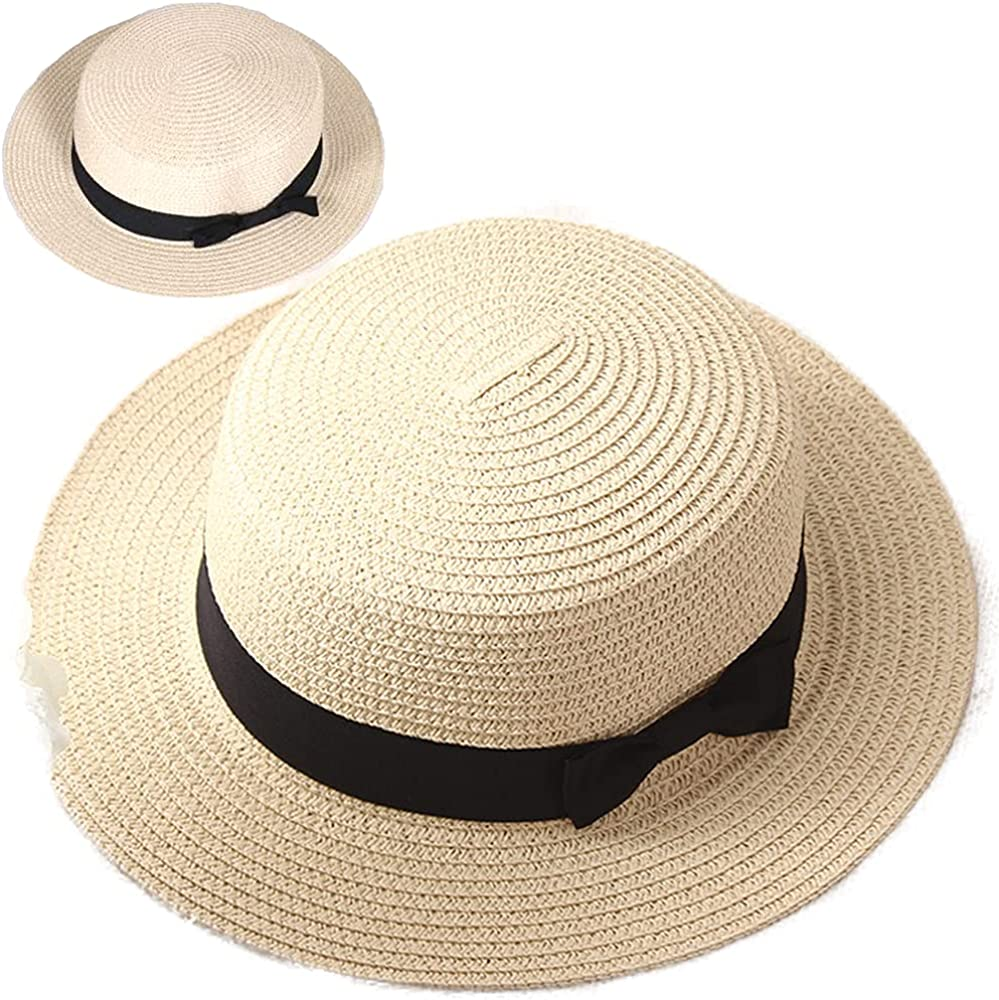 Paper Straw Sun Hat Summer Beach Cap Shapable Wide Brim Colorful Foldable Protection Outdoor