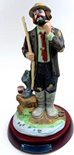 Porcelain Hobo Clown Collectible Figurine ''Fisherman'' Hand Signed by Emmett Kelly, Jr. w/Original Box