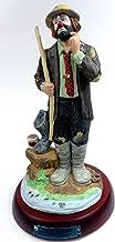 Porcelain Hobo Clown Collectible Figurine ''Fisherman'' Hand Signed by Emmett Kelly, Jr. w/Original Box