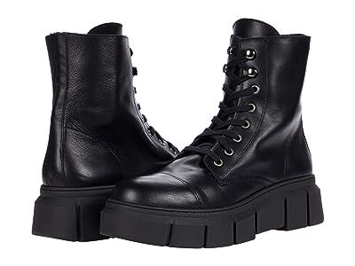 Steve Madden Danube Bootie (Black Leather) Women