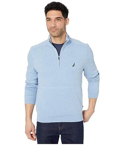Nautica 1/4 Zip Fleece Pullover (Blue) Men
