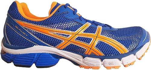 ASICS Gel-Pulse 4 Men's Running schuhe Blau Neon Orange T240N 4730, 50.5 EU