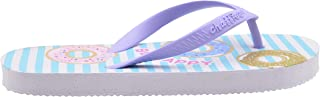 Chatties Girls' Flip Flop Little Kid Cute Mix N Match Print Slip On Summer Thong Sandal