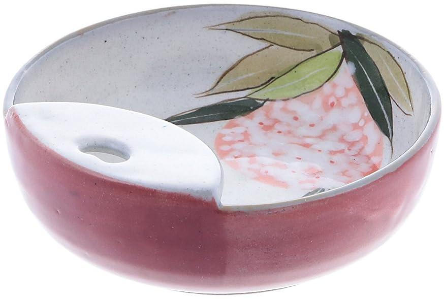 洗練ペレットあいまいな舞陶館 お玉立て 色釉紅花 44129
