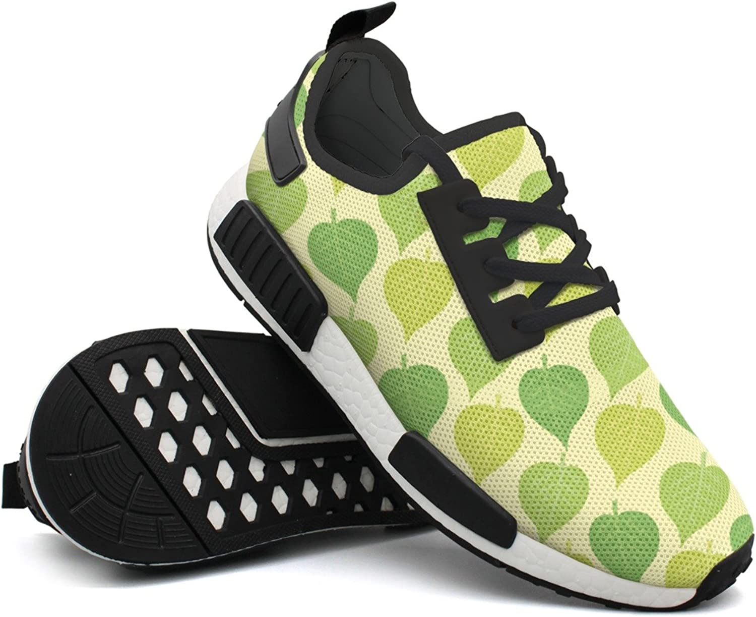 Fashion Sneakers For Men Geen Leaves Designer Lightweight Breathable Mesh Mens Gym shoes