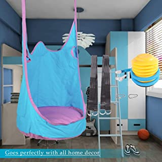 CO-Z Kids Pod Swing Seat Child Hanging Hammock Chair Indoor Outdoor Kid Hammock Seat Pod Nook (Upgraded Two Straps, Blue)
