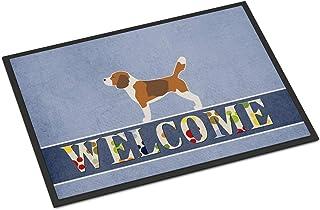 Caroline's Treasures BB5514MAT Beagle Welcome Indoor or Outdoor Mat 18x27, 18H X 27W, Multicolor