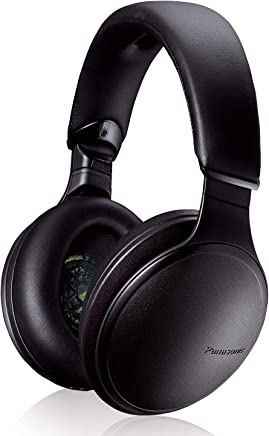PANASONIC Wireless Headphones with Noise Cancelling, Bluetooth and Smartphone Voice Assistant - RP-HD605N-K - Over the Ear Headphone (Black)