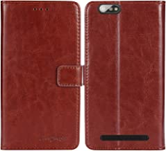 TienJueShi Blue Flip Genuine Leather TPU Silicone Case Doro Liberto 8040 5 inch Cover Etui Protector Premium Wallet