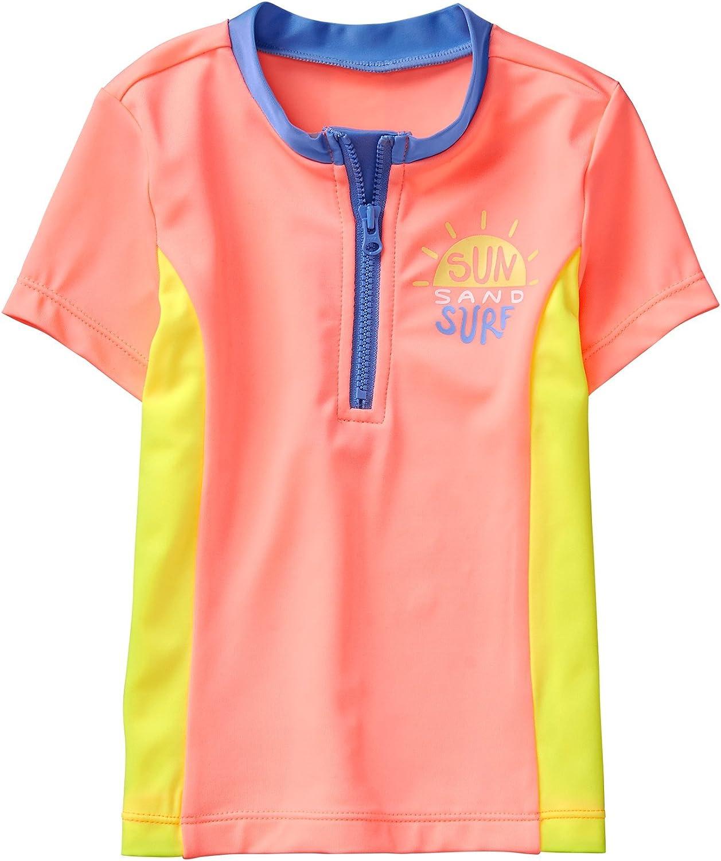 Gymboree Girls' Little Short Sleeve Colorblock Rashguard