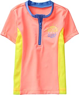 Gymboree Girls' Little Short Sleeve Colorblock Rashguard