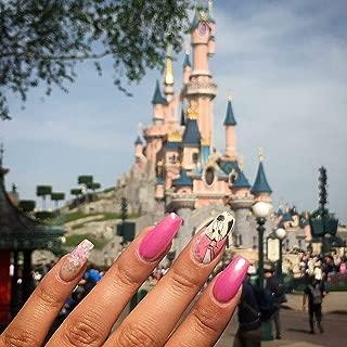 Disney Princess cartoon MICKEY MOUSE minnie mouse NAIL DECALS disney mickey mouse ears disneyworld NAIL ART Disneyland decor nail sticker nail vinyl French tip NAIL WRAP (9)