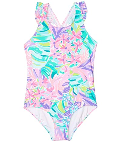 Lilly Pulitzer Kids Issie UPF 50+ Swimsuit (Toddler/Little Kids/Big Kids) (Multi It Was All A Dream) Girl