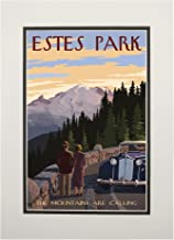 Estes Park, Colorado - The Mountains are Calling (11x14 Double-Matted Art Print, Wall Decor Ready to Frame)