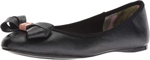 Ted Baker Wohommes IMMET IMMET IMMET Ballet Flat, noir Leather, 9.5 Medium US 7a7