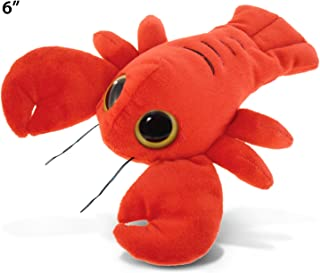 "Puzzled Big Eye Lobster Plush, 6"""