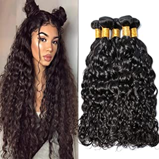 Peruvian Virgin Hair Bundles Water Wave 3pcs lot 100% Human Hair Weave Extensions MSGEM Peruvian Water Wave Hair 14 14 14 inch 1B Color