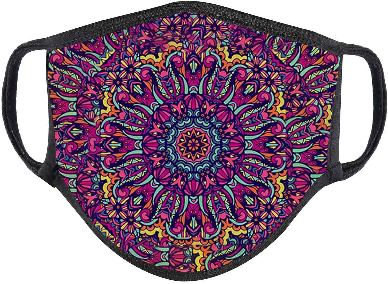 Reusable Pretty Floral Cloth Bandana, Fashion Washable Cotton Face Balacavas Washable Cotton Bandana Anti Dust Balacavas