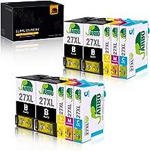 JARBO 27 XL compatibili per Epson 27XL Cartucce d'inchiostro (4 Nero,2 Ciano,2 Magenta,2 Giallo) per Epson WorkForce WF-7610 WF-7620 WF-3620 WF-3640 WF-7110 WF-7710 WF-7715 WF-7720 WF-7210