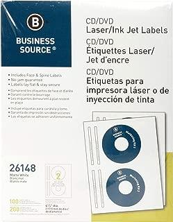 Business Source Laser/Inkjet CD/DVD Labels