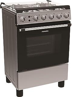 Nikai 60 X 60 cm 4 Burner Gas Cooker, Silver - NCR6060NFS
