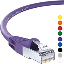 InstallerParts Ethernet Cable CAT6 Cable Shielded (SSTP/SFTP) Booted 5 FT - Purple - Professional Series - 10Gigabit/Sec Network/High Speed Internet Cable, 550MHZ