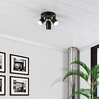 LEDKIA LIGHTING Lámpara de Techo Circular Orientable Cano 3 Focos Negro Negro