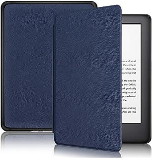 Capa Kindle Paperwhite 10ª geração à prova d'água - Função Liga/Desliga - Fechamento magnético - Cores (Azul Marinho)