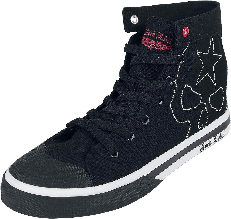 Rock Rebel by EMP Walk The Line Sneakers High Black