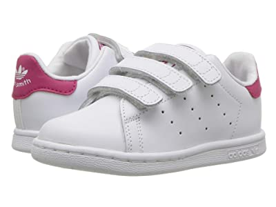 adidas Originals Kids Stan Smith (Toddler) (White/Pink) Girl