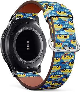 Compatible con Samsung Gear S3 Frontier/Classic – Correa de Reloj de Cuero con pasadores de liberación rápida (Taxi Coche)