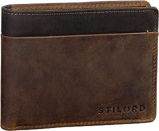STILORD 'Sterling' Portafoglio Uomo in Pelle Bicolore con Protezione RFID Portafogli Vintage con Portamonete, Colore:marro...