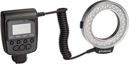 Polaroid 48 Macro LED Ring Flash & Light Includes 4 Diffusers (Clear, Warming, Blue, White) For The Canon Digital EOS Rebel SL1 (100D), T5i (700D), T5 (1200D), T4i (650D), T3 (1100D), T3i (600D), T1i (500D), T2i (550D), XSI (450D), XS (1000D), XTI (400D), XT (350D), 1D C, 70D, 60D, 60Da, 50D, 40D, 30D, 20D, 10D, 5D, 1D X, 1D, 5D Mark 2, 5D Mark 3, 7D, 6D Digital SLR Cameras (Will Fit 49,52,55,58,62,67,72,77mm Lenses)
