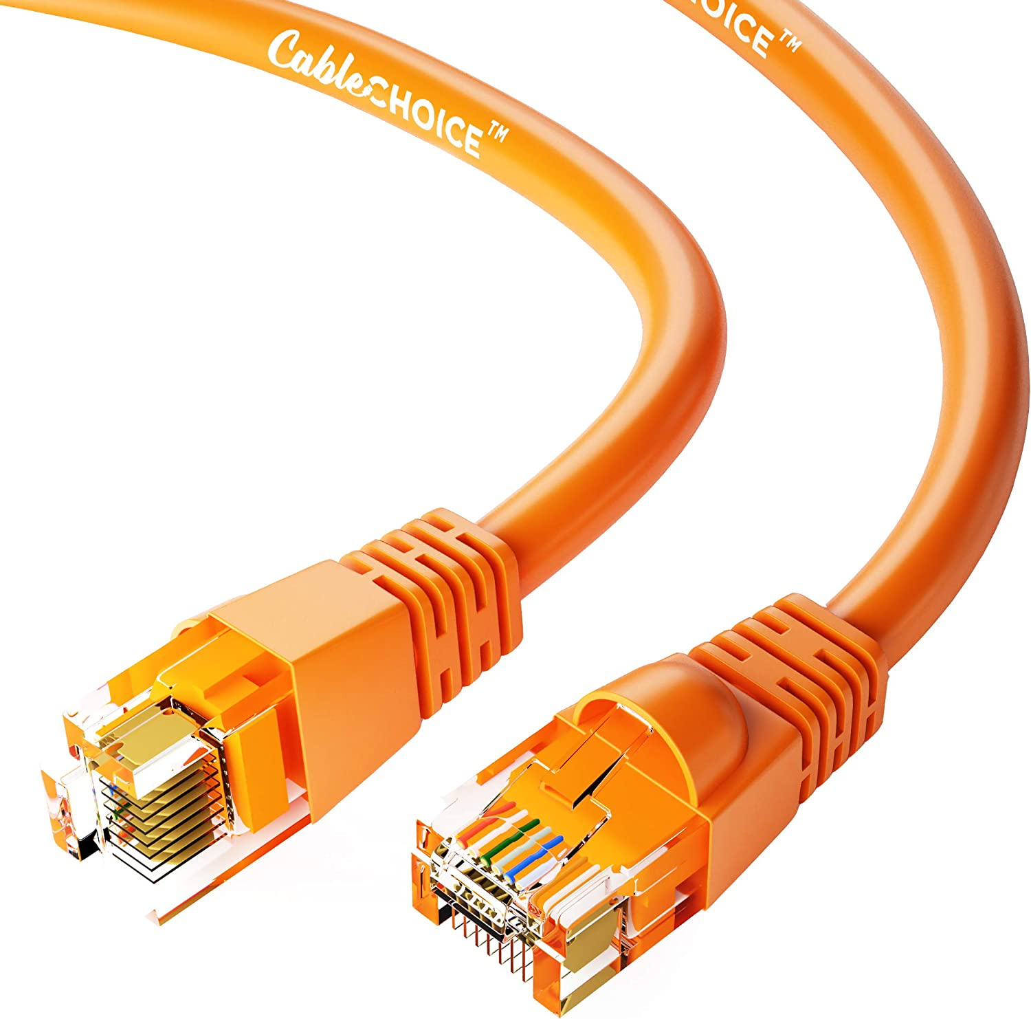 CABLECHOICE free Cat6a Ethernet Cable 50-Pack Orange - Feet 24 Popular standard 35