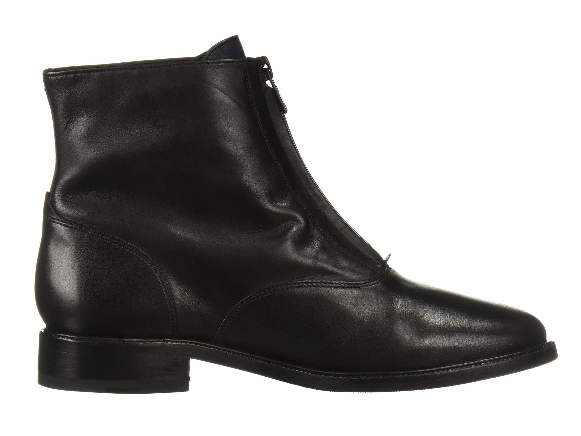 Kelly Black Dip Zip Bootie Frye Leather dyed Front gOT6qTwP