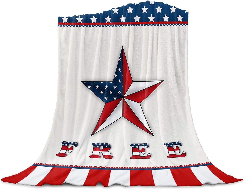Singingin Ultra trust Soft Flannel Fleece Superior Blanket Independence Day Bed