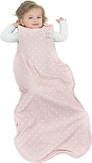 Woolino 4 Season Toddler Sleeping Bag, Merino Wool Toddler Sleep Bag Sack, 2-4 Years, Rose