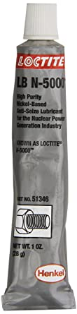 Loctite 51346 Silver LB N-5000 High-Purity Anti-Seize Lubricant, -20 Degree F Lower Temperature Rating to 2400 Degree F Upper Temperature Rating, 1 fl. oz. Tube: image